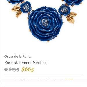 RareNew Oscar de la Renta Rose Statement necklace